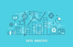 Linea sottile illustrazione di analisi dei dati di vettore illustrazione di stock