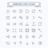 Linea sottile insieme dell'icona delle frecce di vettore Colpo editabile px 24x24 Pixel perfetto Fotografie Stock