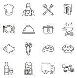 Linea sottile insieme delle icone di affari di approvvigionamento dell'illustrazione di vettore illustrazione vettoriale