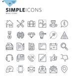 Linea sottile moderna icone di base di web royalty illustrazione gratis