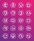 Linea sottile pacchetto delle icone di web Fotografie Stock Libere da Diritti