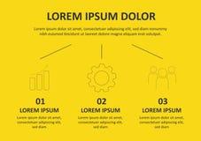 Linea sottile progettazione di Infographic di vettore con le icone e 3 opzioni o punti Infographics per il concetto di affari pu? illustrazione vettoriale