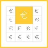 Linea sottile segno dell'euro Fotografia Stock