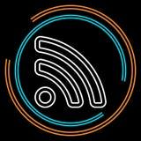 Linea sottile semplice icona di RSS di vettore illustrazione di stock