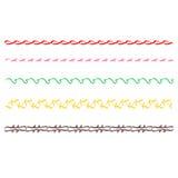 Linea spogliata di scarabocchio disegnato a mano variopinto Fotografia Stock