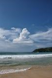 Linea Sri Lanka della costa Fotografia Stock Libera da Diritti
