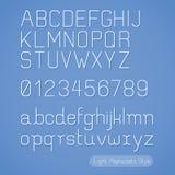 Linea stile di alfabeto. Immagine Stock Libera da Diritti