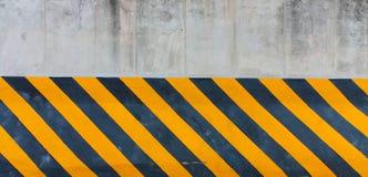 Linea a strisce gialla e nera Immagini Stock Libere da Diritti