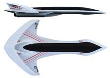 Linea supersonica orizzonte del Business class degli aerei di concetto di progetto illustrazione 3D Fotografia Stock