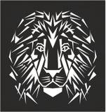 Linea tatuaggio del leone di arte Fotografie Stock