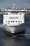 Linea traghetto di Stena al porto di Kiel, Germania Fotografia Stock