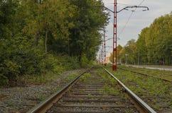 Linea tranviaria Fotografia Stock