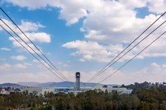 Linea tranviaria aerea di Puebla, Messico fotografie stock