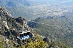 Linea tranviaria delle montagne di Sandia Fotografie Stock