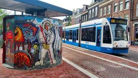 Linea tranviaria di Amsterdam Immagine Stock Libera da Diritti