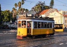 Linea tranviaria di Lisbona Fotografia Stock