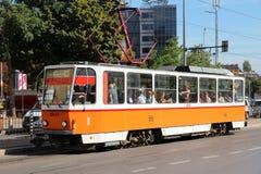 Linea tranviaria di Sofia Fotografia Stock Libera da Diritti