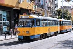 Linea tranviaria di Sofia Immagine Stock