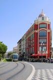 Linea tranviaria in Nizza Fotografia Stock Libera da Diritti