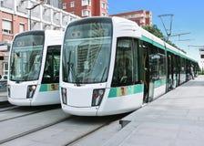 Linea tranviaria a Parigi, Francia immagine stock libera da diritti