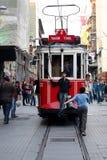 Linea tranviaria quadrata di Taksim Immagini Stock
