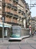 Linea tranviaria a Strasburgo, Francia immagine stock
