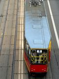 Linea tranviaria a Varsavia Immagini Stock