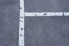 Linea trasversale bianca sul nero Fotografia Stock