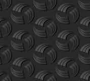 linea trasversale rotonda di carta scura del colpo di vortice a spirale di arte 3D illustrazione di stock