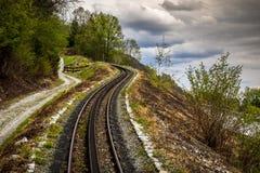 Linea turistica del treno di Zillertal di Austria Immagine Stock Libera da Diritti