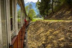 Linea turistica del treno di Zillertal di Austria Immagini Stock Libere da Diritti