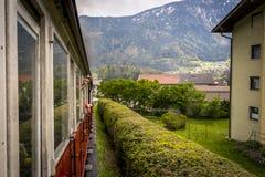 Linea turistica del treno di Zillertal di Austria Fotografia Stock