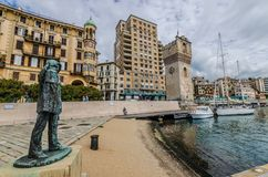 Linea urbana di Savona fotografie stock