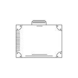 Linea valigia dell'icona Immagini Stock