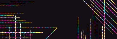 Linea variopinta insegna luminosa RGB Fotografia Stock Libera da Diritti