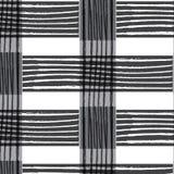 Linea verticale bianca nera di torsione sul tessuto a strisce grigio di rettangolo Fotografia Stock