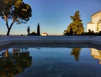 Linea vista di orizzonte dal giardino di Foundation Eugénio de Almeida Fotografie Stock Libere da Diritti