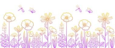 Lineair bloemenpatroon Royalty-vrije Stock Afbeelding