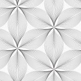 Lineair vectorpatroon, die abstracte bladeren, grijze lijn van blad of bloem herhalen, bloemen grafisch schoon ontwerp voor stof, royalty-vrije illustratie