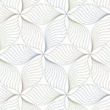 Lineair vectorpatroon, die abstracte bladeren, lijn van blad of bloem herhalen, bloemen grafisch schoon ontwerp voor stof, gebeur stock illustratie