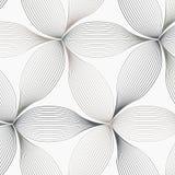 Lineair vectorpatroon, die samenvatting herhalen een lineair blad elk die op hexagon vorm omcirkelen stock illustratie