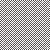 Lineair vectorpatroon, herhalend streeplijn en kruis op centrum, Japans modieus patroon Schoon ontwerp voor stof stock illustratie