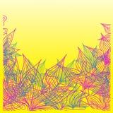 Lineaire achtergrond van de herfstbladeren Stock Fotografie