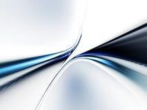 Lineaire blauwe dynamische motie Stock Afbeeldingen