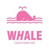 Lineaire gestileerde tekening van walvis Stock Foto's