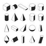 Lineaire isometrische geomtric vormen royalty-vrije stock foto