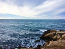 Equilibry. Lineal composition. Amazing views from Salou, Spain. Enjoy the colours and the nature that& x27;s inspire Royalty Free Stock Photography