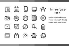 Lineal Interface Icon Sets for Website. This set consists of 20 Web and App Interface themed icons, crafted in Rounded Outline Style. You can use them for Stock Photo