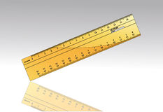 Lineal ruler Stock Images