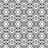 Linear art deco black and white pattern. Geometric art deco modern futuristic pattern. Texture for print, fabric, spring fashion textile, rich luxurious vector Royalty Free Stock Image